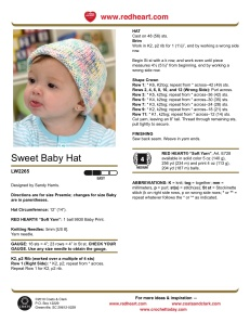 sweet baby hat