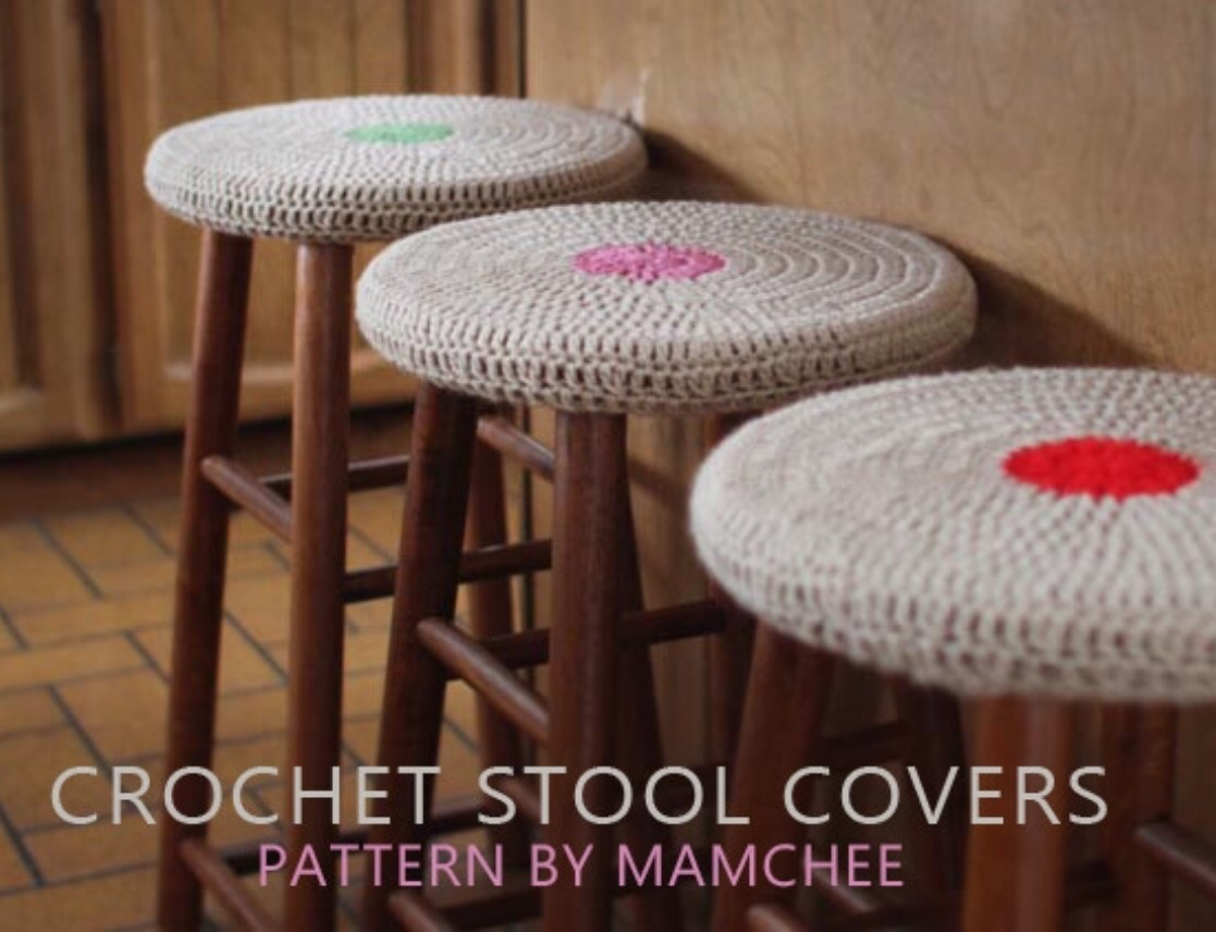 Crochet stool covers | The Knitting Neurotic